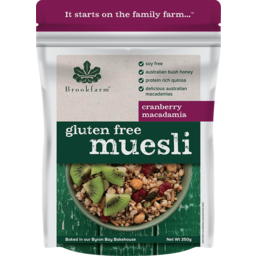Photo of Brookfarm Gluten Free Macadamia Muesli with Cranberry