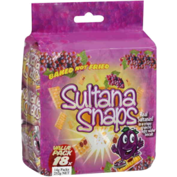 Photo of Sultana Snaps Value Pack 18pk 252g