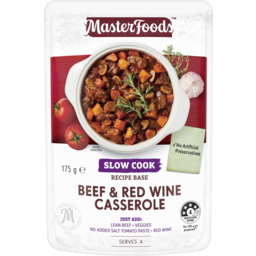 Photo of MasterFoods Slow Cooker Beef & Red Wine Casserole 175g