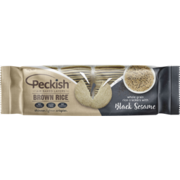 Photo of Peckish Brown Rice With Black Sesame Rice Crackers 90g