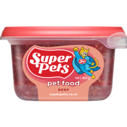Photo of Superpet Chunkie Pet Food Beef 500g