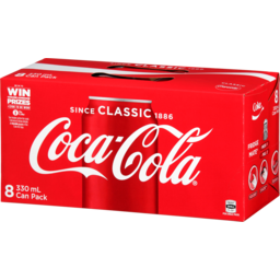 Photo of Coca Cola Classic Cans 330ml 8 Pack