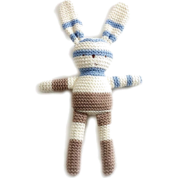Photo of Natures Purest Knitted Bunny - Blue/Cream/Brown