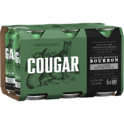 Photo of Cougar Bourbon & Zero Cola Cans
