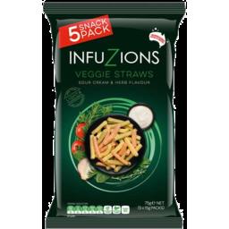 Photo of Infuzions Veggie Straws Multipack 75g 5pk