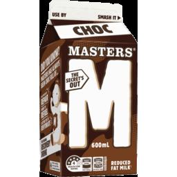 Photo of Masters Chocolate Flavoured Milk 600ml Ctn (6)