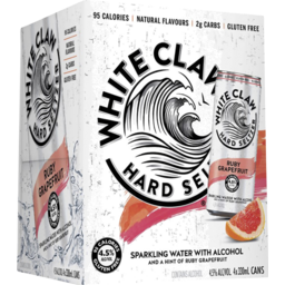 Photo of White Claw Hard Seltzer Ruby Grapefruit Can