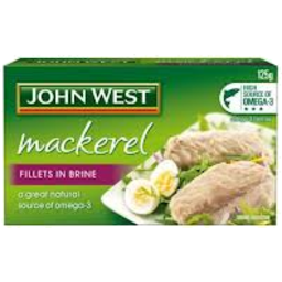 Photo of J/West Mackerel Fil Brine125gm