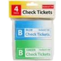 Photo of Marbig Check Ticket Book 4pk