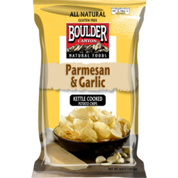 Photo of Boulder Canyon Authentic Foods Parmesan And Garlic Kettle Cooked Potato Chips 142g