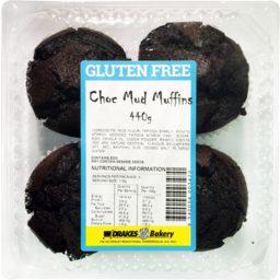 Photo of Drakes Gluten Free Choc Mud Muffins 4 Pack 440g