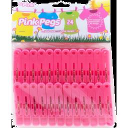Photo of Pink Pegs Spring Triple Grip 24 Pack