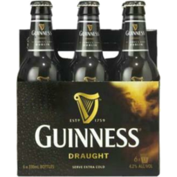Photo of Guinness Draught Bottles 330ml 6 Pack