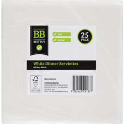 Photo of Best Buy Serviettes Dinner 2 Ply 25s