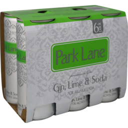 Photo of Park Lane Gin & Lime Soda 7%
