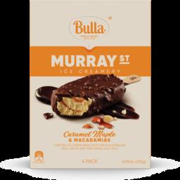 Photo of Bulla Ice Cream Murray St Caramel Maple & Macadamia 4pk
