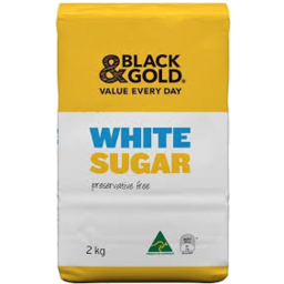 Photo of Black & Gold White Sugar 2kg