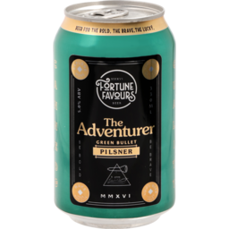 Photo of Fortune Favours The Adventurer Green Bullet Pilsner Can 330ml
