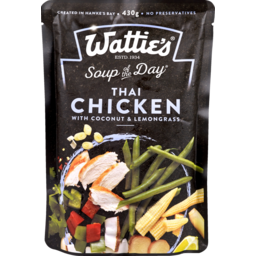 Photo of Wattie's Soup Of The Day Thai Chicken With Coconut 430g