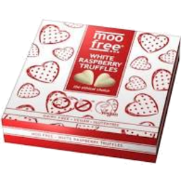 Photo of MOO FREE:MF White Raspberry Truffles Vegan 9pk