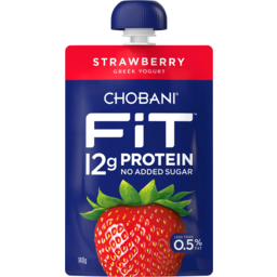 Photo of Chobani Fit Strawberry Greek Yogurt Pouch 140g