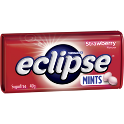 Photo of Wrigley's Eclipse Strawberry Mints Sugar Free Large Tin 40g