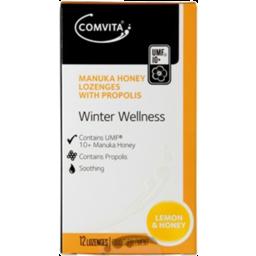 Photo of Comvita Winter Wellness Throat Lozenges Lemon & Honey 12s 12