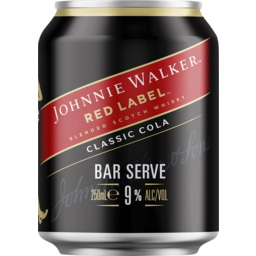 Photo of Johnnie Walker & Cola Bar Serve 9% Can 250ml