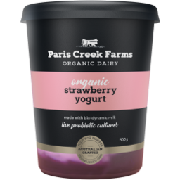 Photo of Paris Creek Yogurt Strawberry Organic 500g