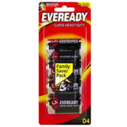 Photo of Eveready Black D 4pk