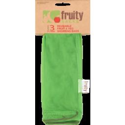 Photo of Fruity Sacks Reusable Fruit & Veg Shopping Bag Large Size 3pk