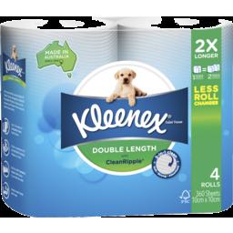 Photo of Kleenex Double Length Toilet Tissue 4 Pack
