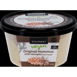 Photo of Seasons Gourmet Vegan Original Hummus With Horopito Bush Pepper 400g