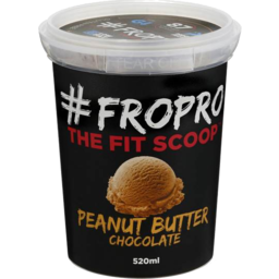 Photo of Fropro Ice Cream Peanut Butter Chocolate 520ml