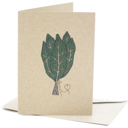 Photo of Deer Daisy Card - Bunch Of Kale