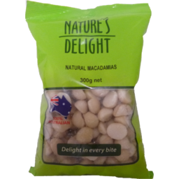 Photo of Nature's Delight Natural Macadamias 300g