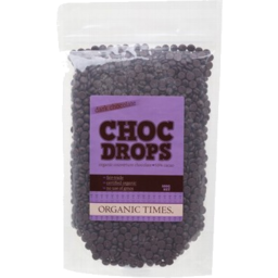 Photo of ORGANIC TIMES:OT Dark Chocolate Drops 500g