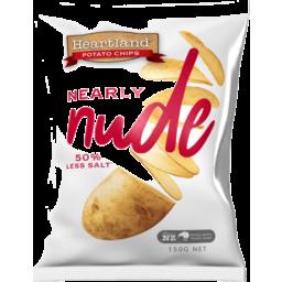 Photo of Heartland Potato Chips Nearly Nude 150g