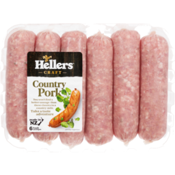 Photo of Hellers Sausages Country Pork 6 Pack
