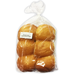 Photo of White Bread Rolls 6 Pack