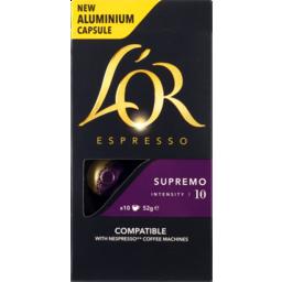 Photo of Lor Espresso Cap Supremo 10pk