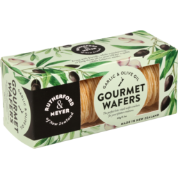 Photo of Rutherford & Meyer Gourmet Wafers Garlic & Olive Oil 60g