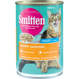Photo of Smitten Adult Cat Food Chunky Sardines 400g