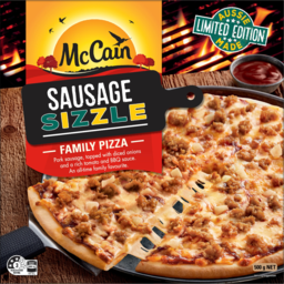 Photo of Mccain Sausage Sizzle Family Pizza 500g
