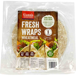 Photo of Giannis Wraps Wheatmeal 6 Pack