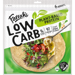 Photo of Farrah Wraps Low Carb Plant Based 6 Pack