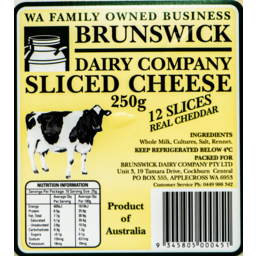 Photo of Brunswick Sliced Cheese 250gm