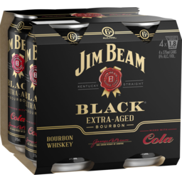 Photo of Jim Beam Black Label & Cola Cans