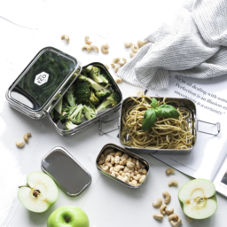 Photo of Ever Eco Stackable Bento Box 2 Tier + Snack Container
