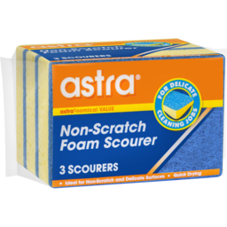 Photo of Astra Non-Scratch Foam Scourer 3 Pack